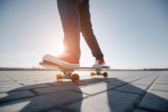Skater riding a skateboard Royalty Free Stock Photography