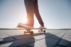Skater riding a skateboard Royalty Free Stock Photography