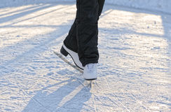 Skater's legs Stock Photo
