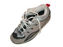 Skater shoe. Type of shoe used by skater boys (on white background royalty free stock image