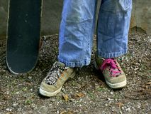 Skater shoes Stock Image