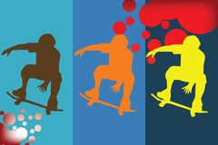Skater silhouette Stock Photography