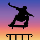 Skater silhouette Royalty Free Stock Image