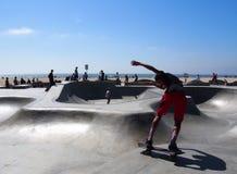 Skater in Skate Park Bowl Royalty Free Stock Photo