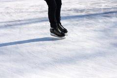 Skater on skating rink Royalty Free Stock Image