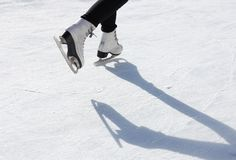 Skater on skating rink Stock Image