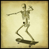 Skater skeleton Royalty Free Stock Photography