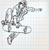 Skater sketch illustration Royalty Free Stock Photography