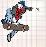 Skater sketch illustration Stock Photography