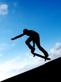 Skater in sky Stock Image