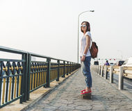 Skater Sneakers Leisure Fashion Energy Exercise Concept Stock Image