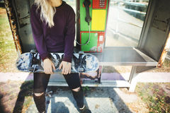 Skater Sport Casual Hobby Trendy Urban Youth Concept Royalty Free Stock Images