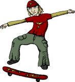 Skater (Vector). Vector illustration of jumping skater Stock Photo