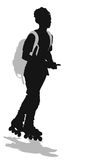 Skater vector silhouette Stock Photography