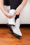 Skater wearing skates Royalty Free Stock Photo