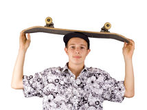 Skater on white. Skater on a white background Stock Photography