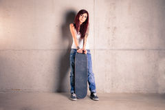 Skater woman Royalty Free Stock Photography