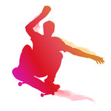 Skaterboarder performing a trick Royalty Free Stock Photos