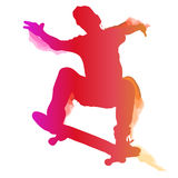 Skaterboarder performing a trick Royalty Free Stock Image