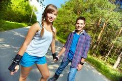Skateres adolescentes Imagens de Stock