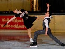Skaters Guignard & Fabbri -Italian Championship Stock Photos