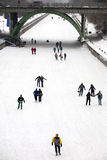 Skaters on the Rideau Canal, Ottawa, Ontario Royalty Free Stock Images
