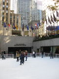 Skaters at Rockefeller Center Royalty Free Stock Images