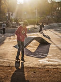 Skaters in Santiago Stock Photos
