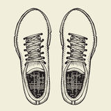 Skaters Shoes. Top View. Stock Image