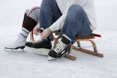 Skaters wearing skates Stock Image