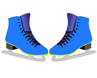Skates for figure skaters. On a white background Stock Photos