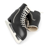 Skates for figure skating. On a white background Royalty Free Stock Photo