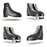 Skates for figure skating. On a white background Royalty Free Stock Photography