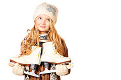 Skates girl Royalty Free Stock Images