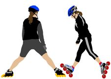 Skates girls Stock Photography