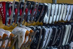 Skates for girls and boys royalty free stock photos