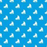 Skates ice pattern vector seamless blue. Repeat for any use Stock Photos