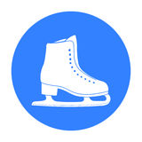 Skates icon black. Single sport icon from the big fitness, healthy, workout black. Royalty Free Stock Photography