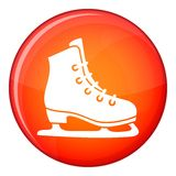 Skates icon, flat style Royalty Free Stock Photography