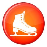 Skates icon, flat style Stock Photo