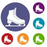 Skates icons set Stock Image