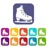 Skates icons set Royalty Free Stock Photo
