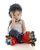 These Skates Made Me Fall! Stock Image