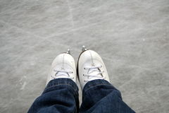 Skates outdoor ice rink. Skates on an outdoor ice rink stock illustration