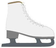 Skates outline silhouette  Royalty Free Stock Image