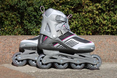 Skates on a road. In park Stock Images