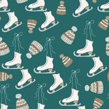Skates Seamless pattern stock illustration