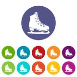 Skates set icons Stock Photos
