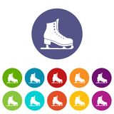 Skates set icons Royalty Free Stock Image