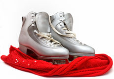 Skates silver female Royalty Free Stock Photography